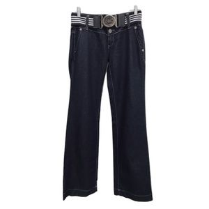 Dolce & Gabbana Dark Blue Wide Leg Jeans w/Belt